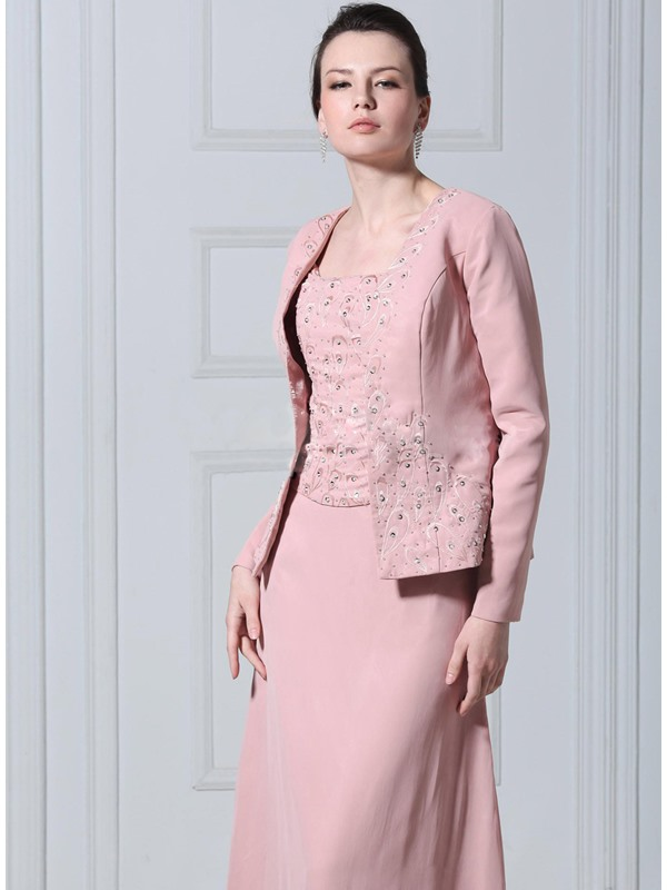 Cool Long Sleeve Pink Flower Patterns Wedding Jacket/Wraps