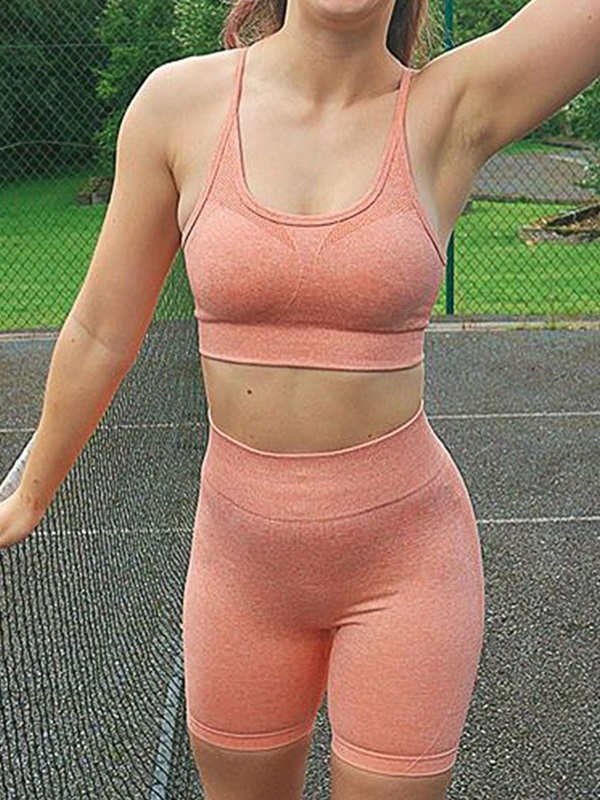 Nylon Quick Dry Solid Seamless Joint Female Badminton Tops