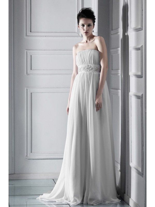 Glorious Empire Floor-length Strapless Chapel Ksenia's Wedding Dress