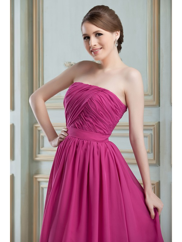 Cheap Ruched A-Line Strapless Knee-Length Nadya's Bridesmaid Dress(Free Shipping)