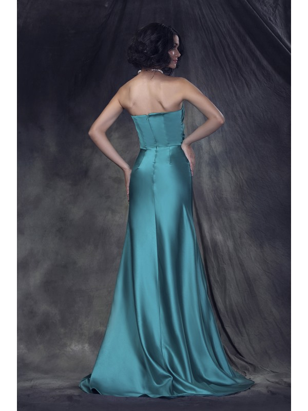 Simple Style Ruched Strapless A-Line Empire Waist Floor-Length Anderae's Bridesmaid Dress
