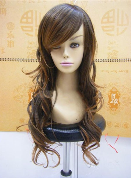 Capless Extra Long Curly Synthetic Hair Wig 16 Inches