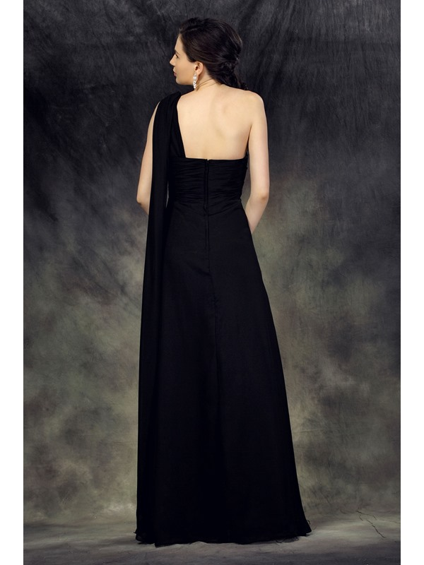A-Line Floor-Length One-Shoulder Luba's Mother Of The Bride Dress