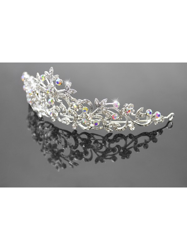 Stylish Brilliant Alloy with Rhinestone Wedding Tiaras