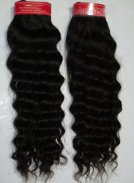 Wholesale Top Quality Curly Human Hair Weave 100g/piece(Free Shipping)