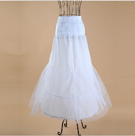 Delicate Fish Tailing Gauze with Steel Surpport Wedding Petticoats