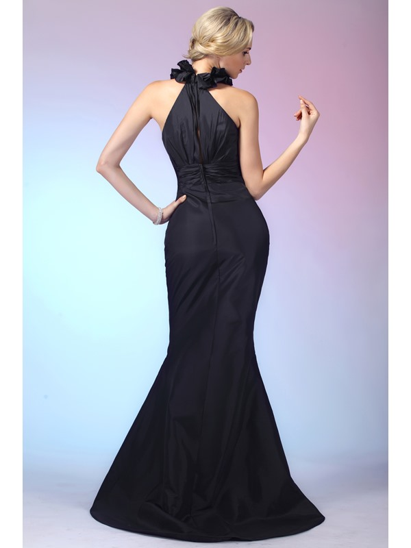 Graceful Trumpet V-Neck Ruffles Floor-Length Dasha's Evening Dress