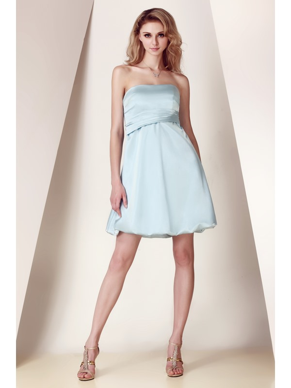 Amazing Bowknot Ruched A-Line Strapless Short/Mini Dasha's Bridesmaid Dress