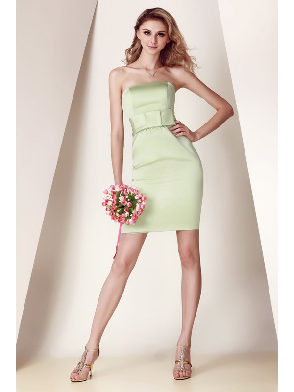 Brilliant Sheath/Column Strapless Short/Mini Dasha's Bridesmaid Dress