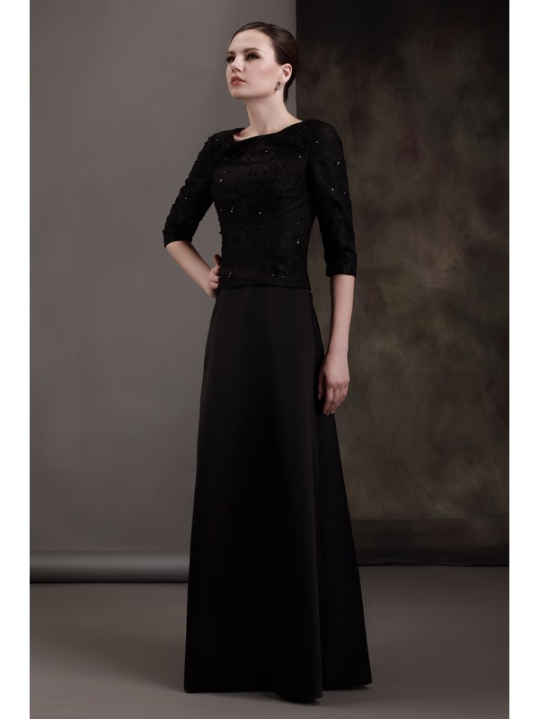 Lace Half Sleeves Sequins Mother of the Bride Dress