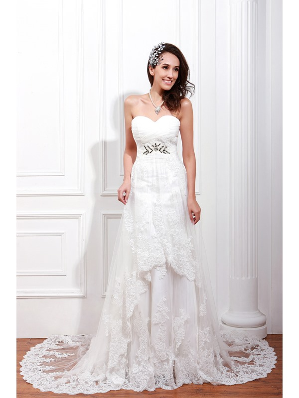 Enchanting Empire Floor-Length Sweetheart Renata's Wedding Dress