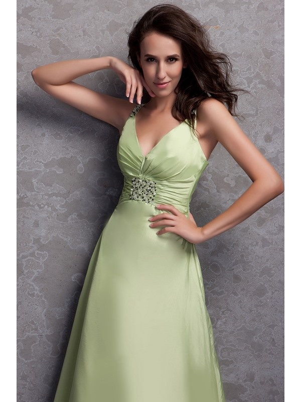 Pretty A-Line/Princess V-neck Floor-Length Renata's Bridesmaid Dress