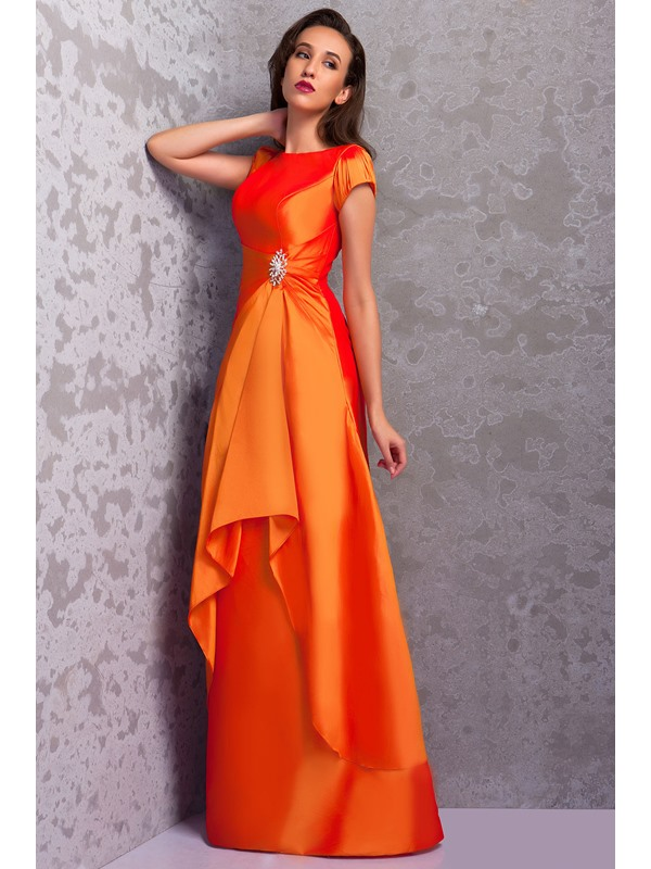 A-Line/Princess Scoop Floor Length Renata's Bridesmaid Dress