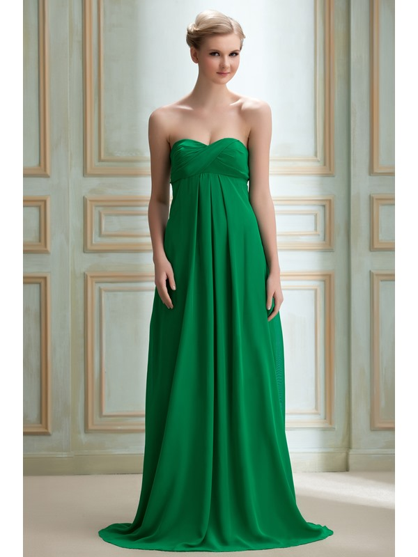 Best Selling A-Line Strapless Empire Waistline Yana's Long Bridesmaid Dress