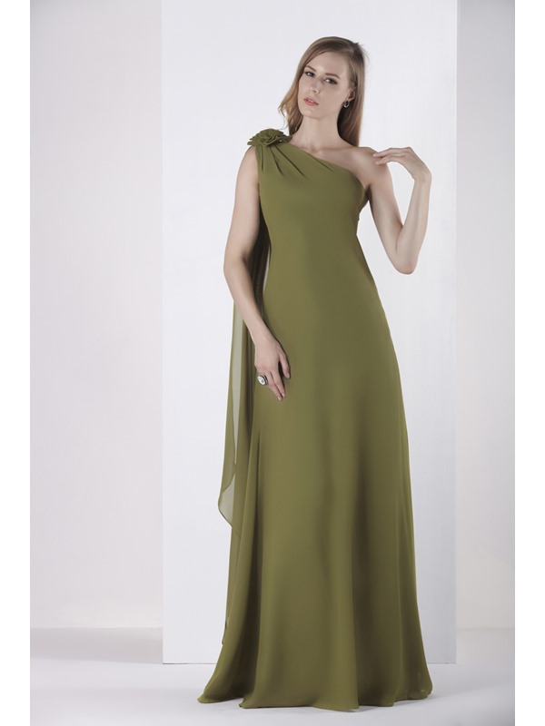 Unique A-Line Floor-Length One-Shoulder Alicja's Bridesmaid Dress