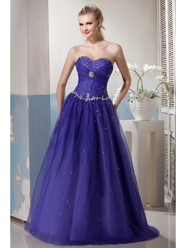 Charming Sweetheart Appliques Beading Lace-up Floor-Length Yana's Ball Gown/Prom Dress