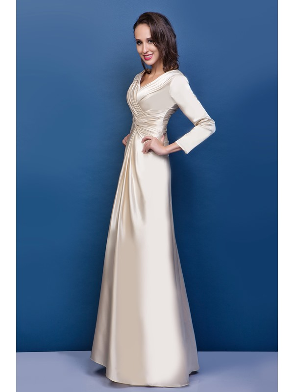 Column Mother of the Bride Dress with Sleeves