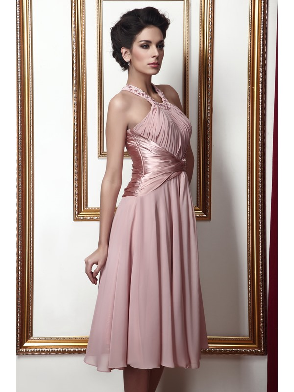 Hot Sell A-line Knee-Length halter Taline's Mother of the Bride Dress