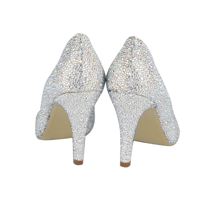 High Quality Suede Upper Closed-toe Stiletto Heel Wedding Shoes