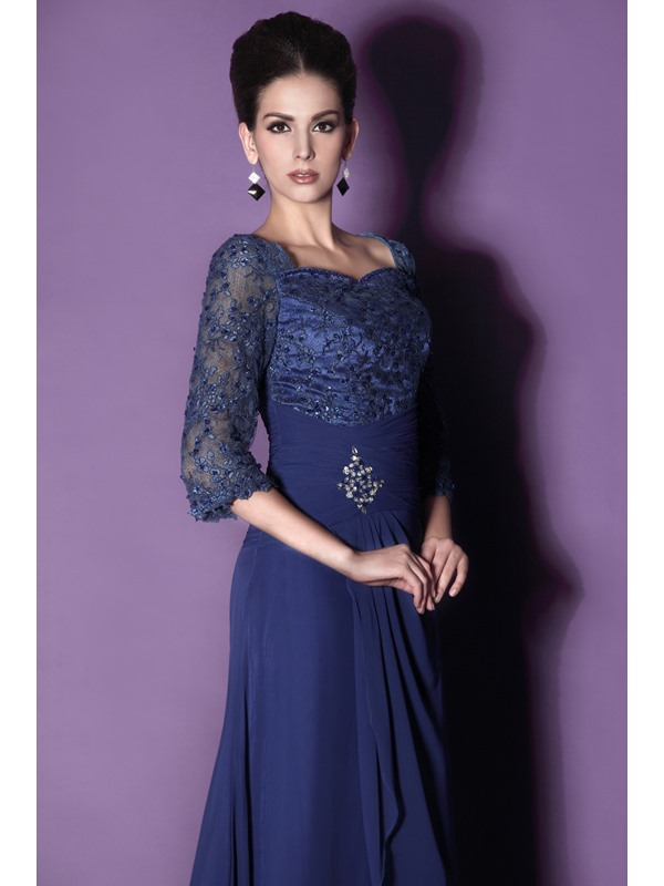 Lace A-Line Sweetheart 3/4-Sleeves Floor-length Mother of the Bride Dress With Jacket/Shawl