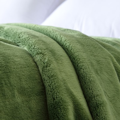 Flesh and Beauty Green Thick Flannel Sheet/Blanket