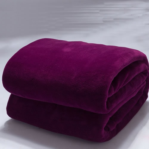 Deep Purple Check Flannel Sheet/Blanket